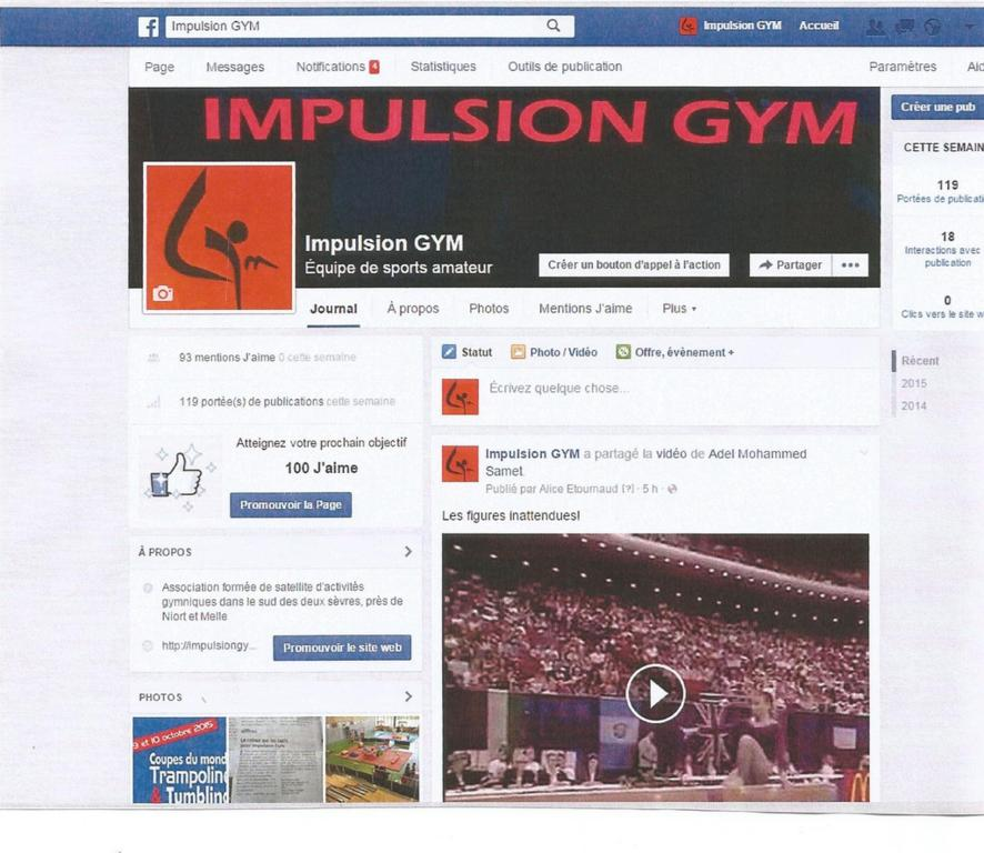 Facebook IMPULSION GYM