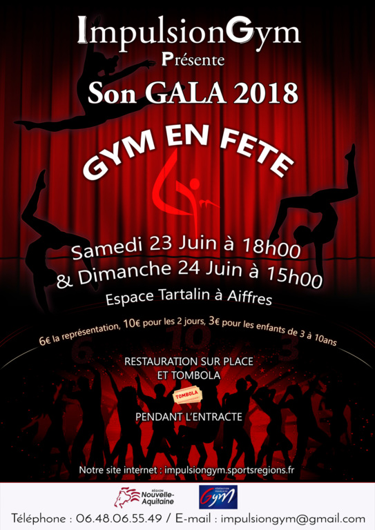 GALA : REPETITION GENERALE et INFORMATIONS